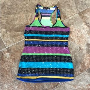 Like New Almost Famous Tank w Sequin front